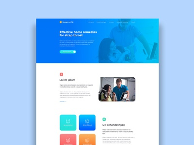 Physiotherapy landing page design
