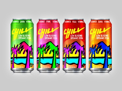 Shark Tank S1E9: Chill Soda shark tank challenge daily challenge brand identity brand design typeface type packaging package design can design soda chill shark tank