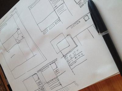Campchaser Layout Sketch layout pen sketch brainstorming