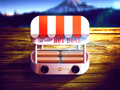 Electrics Old Fashioned Hot Dogs iOS Icon electric retro old fashion illustration ipad interface mobile appstore icon ui hotdog reflections russia moscow app icon highlight shadow light graphicdesign artwork vector details texture design app iphone ios