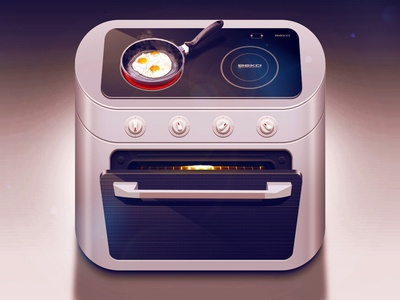 Electric range iOS icon ios iphone icon app design eggs texture details vector artwork graphicdesign steam food pan cooking light shadow scrambled eggs app icon moscow russia reflections coca cola ui icons appstore mobile interface ipad illustration