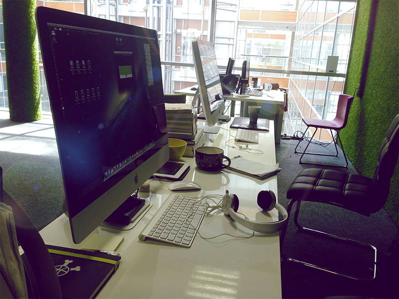 New Workplace))) desk computer apple fun workplace