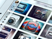 iPad Mobile Portfolio iOS 7 Style