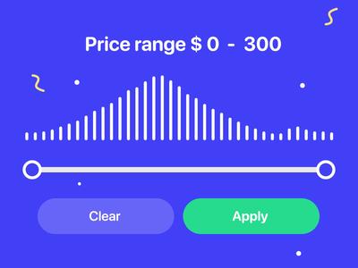 Price Range Animation finance fintech physics gravity rope bar progressbar progress selector price range slide slider ui kit elements animation uiux ui app web