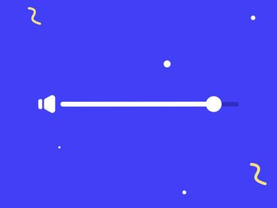 Volume animation Part 2 element ui ux animations speacker bar controll web player music sound animation progressbar progress