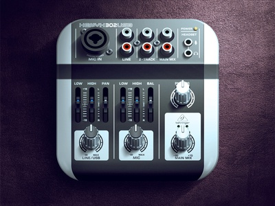 Mixer iOS Icon ios icon app music button mixer light shadow design moscow russia texture