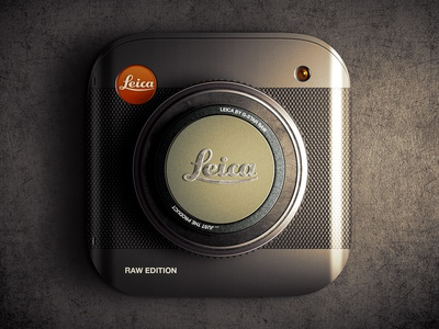 Leica Raw Edition iOS icon ios ios7 app ui icon camera lens leica texture moscow russia