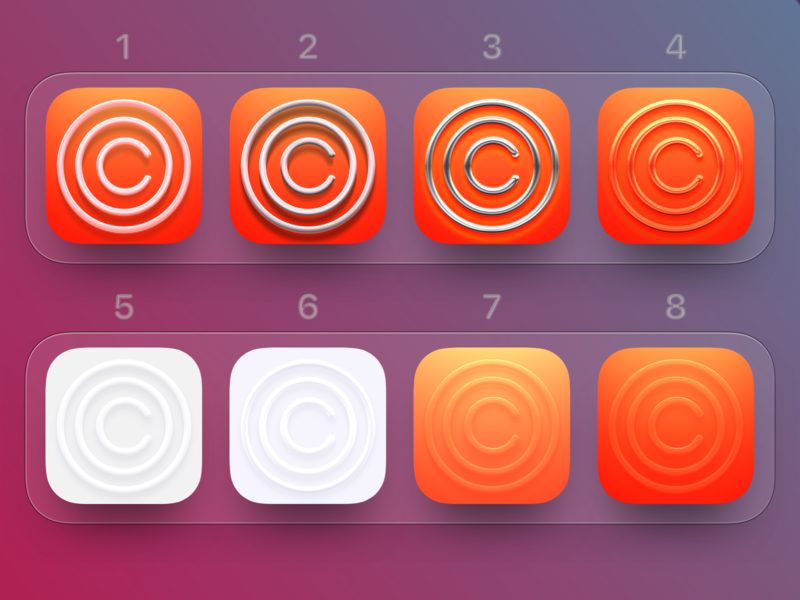 Which one?) clarity skeuomorphism neomorphism app icons icon mac ios app ios