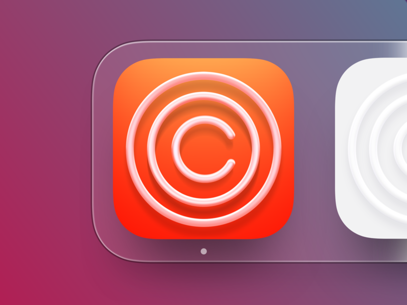 Clarity iOS icon big sur bigsur macapp macos mac logo illustration social profile iphone icon ux ios ui app