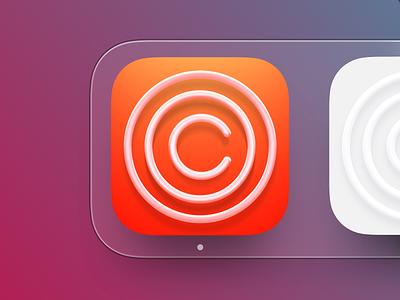 Clarity iOS icon big sur bigsur macapp macos mac logo illustration social profile iphone icon ux ios ui app