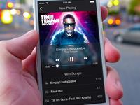 MusicApp iOS7 UI