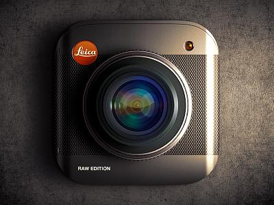 Leica Raw Edition iOS icon russia moscow texture leica lens camera icon ui app ios7 ios