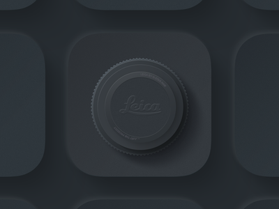 Camera iOS icon Dark camera lens icon iphone social vector logo design ux ios ui app