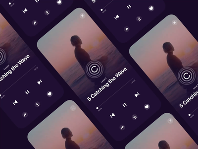 Download Animation button meditation relax player video load icon download app design ux ui app
