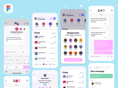 Clean Chat App UI logo social ios icon clean profile story stories app design bubbles messenger message reply ux uiux ui chat app