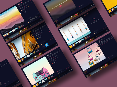 Hyprr Website Big Post View web ui ux social network social hyprr feed player profile uploads player video steam content upload channel editor post website