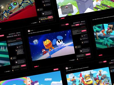 Hyprr website streaming web design steam web social social network hyprr feed profile uploads player video stream content upload channel editor website