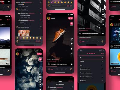Hyprr Feed ios socialmedia video photo editor social feed ux ui app