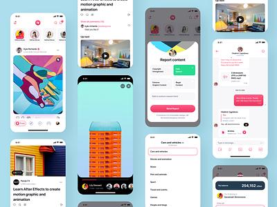 Hyprr Feed profile profiles tabbar feed icon app design social ui uxui ux app