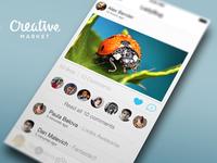 Social Photo App PSD