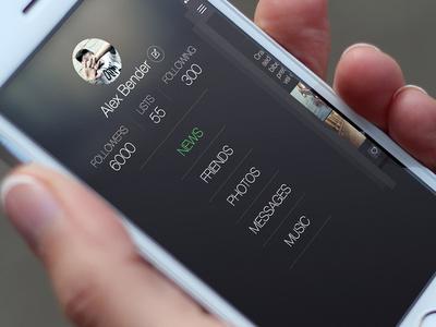 Sidebar For Social App