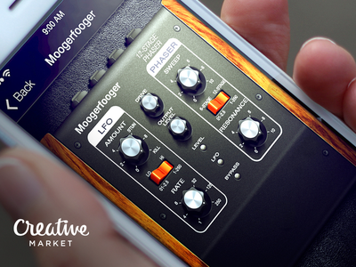 Guitar Amps App russia moscow texture music amp moogerfooger ui app icon ios