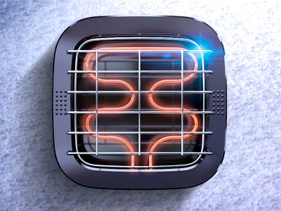 Heater iOS Icon snow hot metal heater lattice ux ui app icon ios7 ios