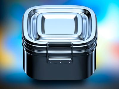 Metal box iOS Icon ios ios7 illustration box metal steel reflection