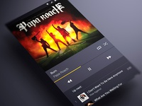 Android music App Material design Player