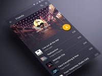Android music App Material design Friend View
