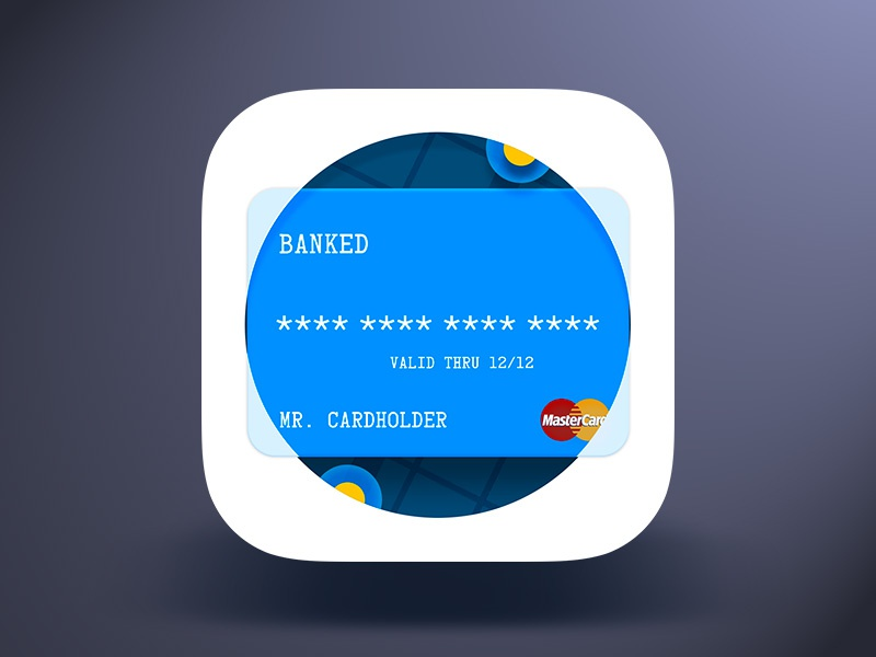 Banked iOS App Icon payment finance pay location pin map card app icon ios