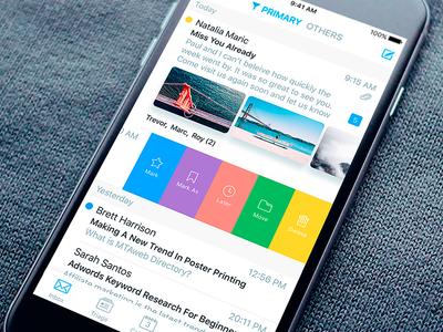 Zero App Main cards message profile cover mail app ux ui iphone ios zero