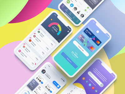 Banking UI finance pay payment banking bank ios iphone ui ux app stat cards