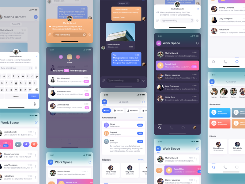 Chat flow by ALEX BENDER for GRAVITY on Dribbble