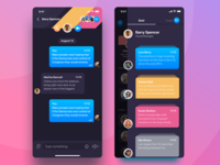 Rainbow Messenger chat view