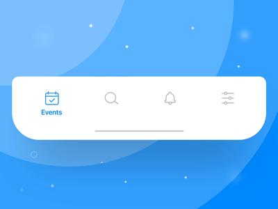Liquid tabbar animation web flat illustration ae animation select tabs tabbar branding vector logo design social profile iphone icon ux ios ui app