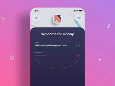 Skooby Login Error Animation