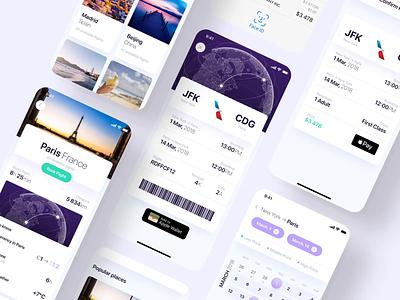 Luxury Flights App (10% OFF) creativemarket luxury travel finance profile cover cards iphone icon ux ios ui app