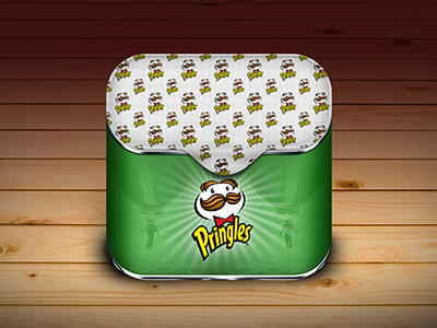 Pringles Icon application ios icon pringles idea app icon brand iphone ipad chips app awesome moscow russia