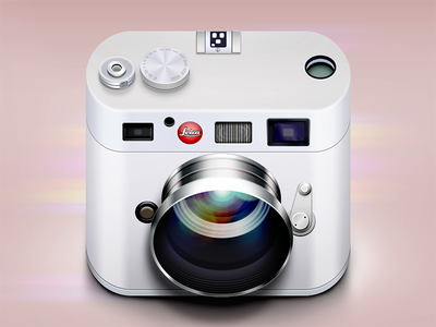Leica Icon ios icon reflections lights shadows logo photo camera lens glare moscow russia flare highlight app ui ipad vector mobile iphone