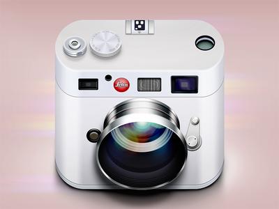 Leica Icon ios icon reflections lights shadows logo photo camera lens glare moscow russia flare highlight app ui ipad vector mobile iphone