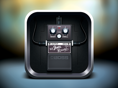 Boss Pedal icon icon ios guitar preamp pedal boss rock wire effects processor flare music moscow russia shadows band highlight lights mobile vector iphone ipad app ui