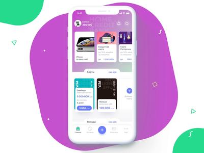 Scroll mobile bank finance fintech card animation home scroll ui app