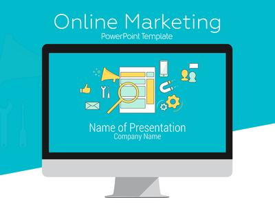 Online Marketing PowerPoint Template by Eric Vadeboncoeur - Dribbble