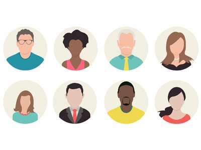 people icons for presentations by evadeboncoeur dribbble dribbble