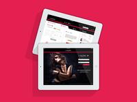 Lancôme e-commerce for tablet