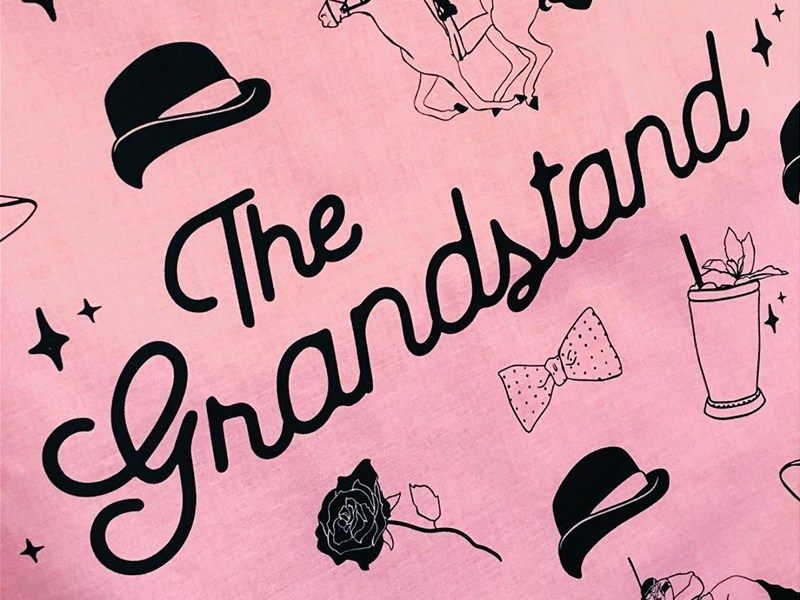 The Grandstand bandana mint julep rose derby kentucky grandstand