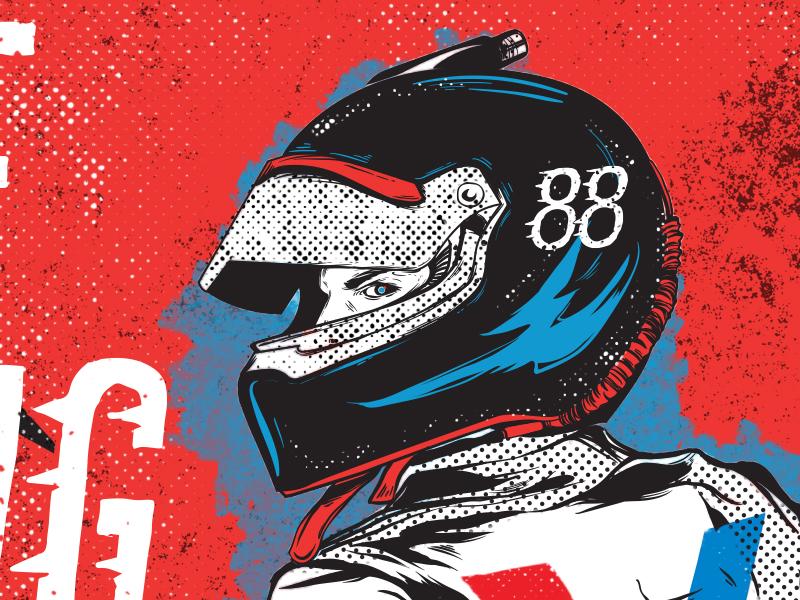 Dale Jr Ride Along illustration nascar race dale vintage car valvoline
