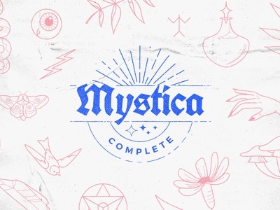 COMPLETE Mystica Collection witch magic mystical icons astrology insects animals dagger potions crystals natural floral
