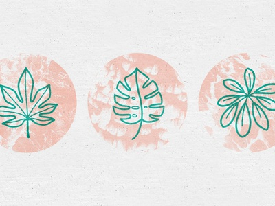 Greenhouse line texture illustration icon natural organic floral flower tropical leaf